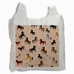 Horses For Courses Pattern Recycle Bag (two Side)  by BangZart