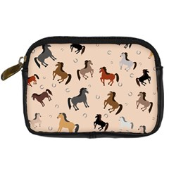 Horses For Courses Pattern Digital Camera Cases by BangZart