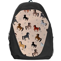 Horses For Courses Pattern Backpack Bag by BangZart