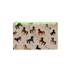 Horses For Courses Pattern Cosmetic Bag (xs) by BangZart