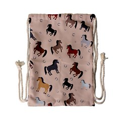 Horses For Courses Pattern Drawstring Bag (small) by BangZart