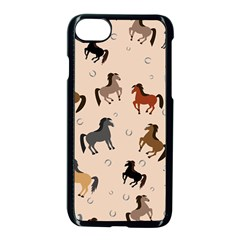 Horses For Courses Pattern Apple Iphone 7 Seamless Case (black) by BangZart