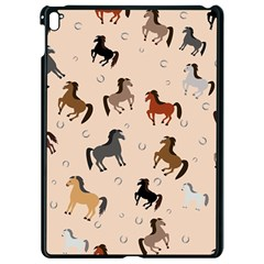 Horses For Courses Pattern Apple Ipad Pro 9 7   Black Seamless Case