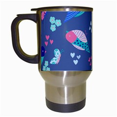 Birds And Butterflies Travel Mugs (white) by BangZart