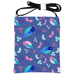 Birds And Butterflies Shoulder Sling Bags by BangZart