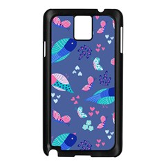 Birds And Butterflies Samsung Galaxy Note 3 N9005 Case (black)