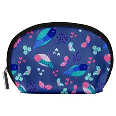 Birds And Butterflies Accessory Pouches (large)  by BangZart