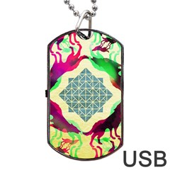 Several Wolves Album Dog Tag Usb Flash (two Sides) by BangZart