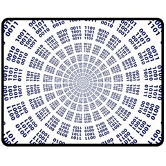 Illustration Binary Null One Figure Abstract Fleece Blanket (medium)  by BangZart