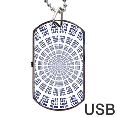 Illustration Binary Null One Figure Abstract Dog Tag Usb Flash (two Sides) by BangZart