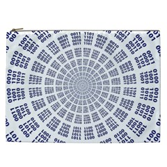 Illustration Binary Null One Figure Abstract Cosmetic Bag (xxl)  by BangZart