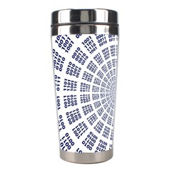 Illustration Binary Null One Figure Abstract Stainless Steel Travel Tumblers by BangZart