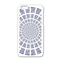 Illustration Binary Null One Figure Abstract Apple Iphone 6/6s White Enamel Case by BangZart