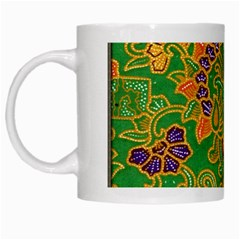 Art Batik The Traditional Fabric White Mugs by BangZart