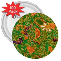 Art Batik The Traditional Fabric 3  Buttons (100 Pack)  by BangZart