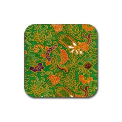 Art Batik The Traditional Fabric Rubber Coaster (square)  by BangZart