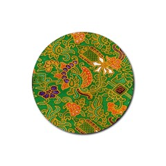 Art Batik The Traditional Fabric Rubber Coaster (round)  by BangZart