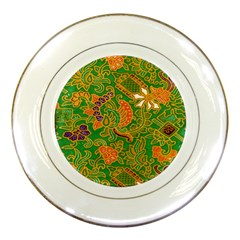 Art Batik The Traditional Fabric Porcelain Plates by BangZart