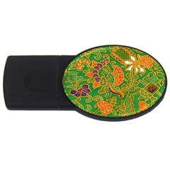 Art Batik The Traditional Fabric Usb Flash Drive Oval (4 Gb) by BangZart