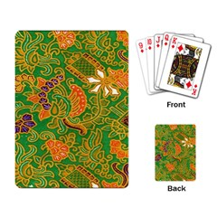 Art Batik The Traditional Fabric Playing Card by BangZart