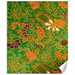 Art Batik The Traditional Fabric Canvas 8  X 10  by BangZart