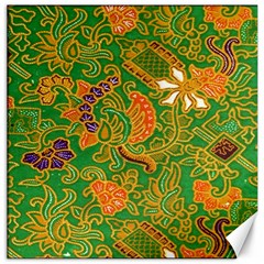 Art Batik The Traditional Fabric Canvas 20  X 20   by BangZart