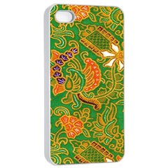 Art Batik The Traditional Fabric Apple Iphone 4/4s Seamless Case (white) by BangZart