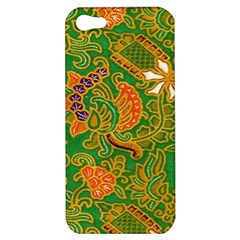 Art Batik The Traditional Fabric Apple Iphone 5 Hardshell Case by BangZart