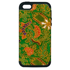 Art Batik The Traditional Fabric Apple Iphone 5 Hardshell Case (pc+silicone) by BangZart