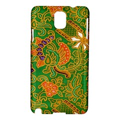Art Batik The Traditional Fabric Samsung Galaxy Note 3 N9005 Hardshell Case by BangZart