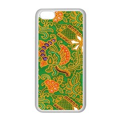 Art Batik The Traditional Fabric Apple Iphone 5c Seamless Case (white) by BangZart