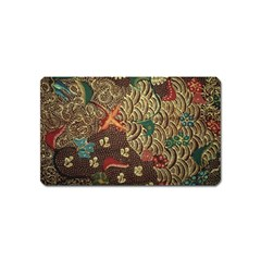 Art Traditional Flower  Batik Pattern Magnet (name Card)