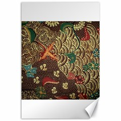 Art Traditional Flower  Batik Pattern Canvas 24  X 36  by BangZart