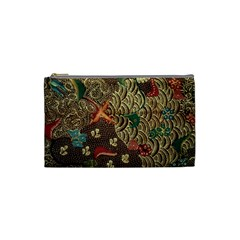 Art Traditional Flower  Batik Pattern Cosmetic Bag (small)  by BangZart