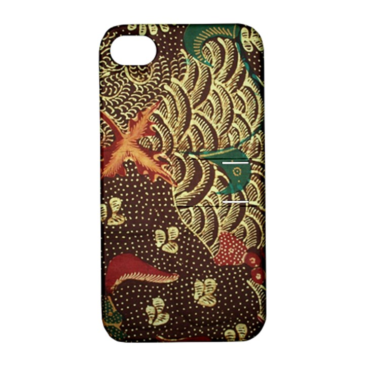 Art Traditional Flower  Batik Pattern Apple iPhone 4/4S Hardshell Case with Stand