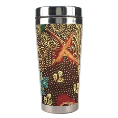 Art Traditional Flower  Batik Pattern Stainless Steel Travel Tumblers by BangZart