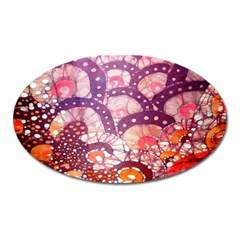 Colorful Art Traditional Batik Pattern Oval Magnet by BangZart