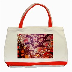 Colorful Art Traditional Batik Pattern Classic Tote Bag (red) by BangZart