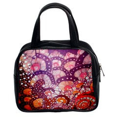 Colorful Art Traditional Batik Pattern Classic Handbags (2 Sides) by BangZart