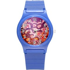 Colorful Art Traditional Batik Pattern Round Plastic Sport Watch (s) by BangZart