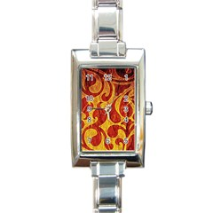 Abstract Pattern Rectangle Italian Charm Watch by BangZart