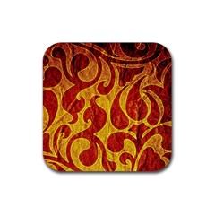 Abstract Pattern Rubber Square Coaster (4 Pack)  by BangZart