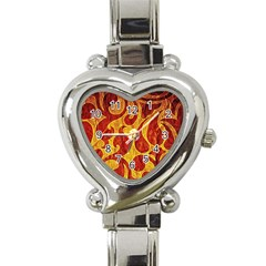 Abstract Pattern Heart Italian Charm Watch by BangZart