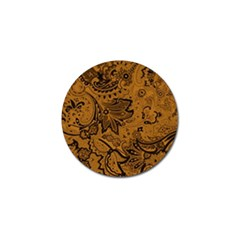 Art Traditional Batik Flower Pattern Golf Ball Marker by BangZart