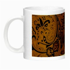 Art Traditional Batik Flower Pattern Night Luminous Mugs by BangZart