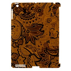 Art Traditional Batik Flower Pattern Apple Ipad 3/4 Hardshell Case (compatible With Smart Cover) by BangZart