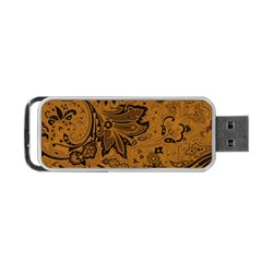 Art Traditional Batik Flower Pattern Portable Usb Flash (two Sides)