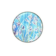 Art Batik Flowers Pattern Hat Clip Ball Marker (4 Pack) by BangZart