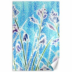 Art Batik Flowers Pattern Canvas 24  X 36  by BangZart
