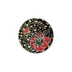 Art Batik Pattern Golf Ball Marker by BangZart